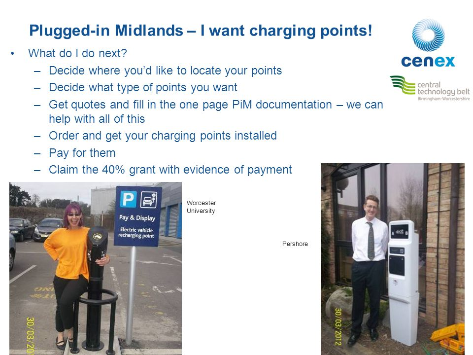 Plugged-in Midlands – I want charging points. What do I do next.