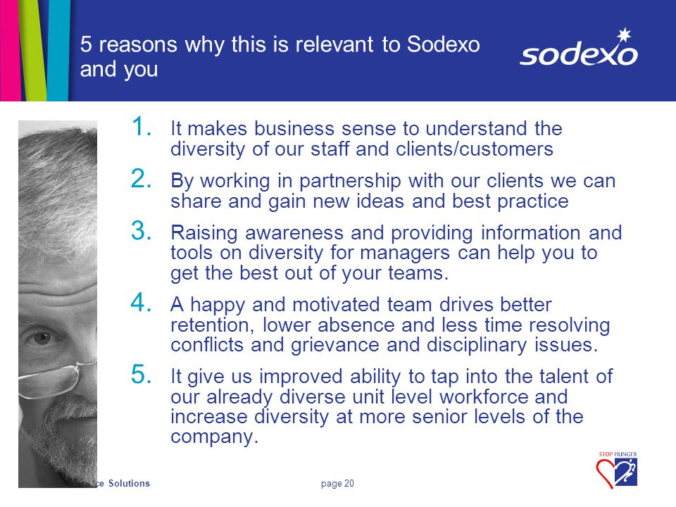 On-site Service Solutionspage 20 5 reasons why this is relevant to Sodexo and you 1.