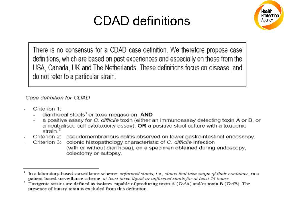 CDAD definitions