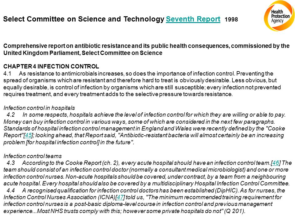 Select Committee on Science and Technology Seventh ReportSeventh Report Comprehensive report on antibiotic resistance and its public health consequenc