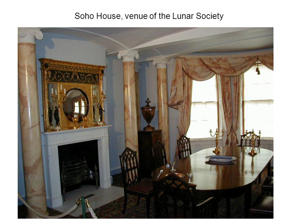 Soho House, venue of the Lunar Society