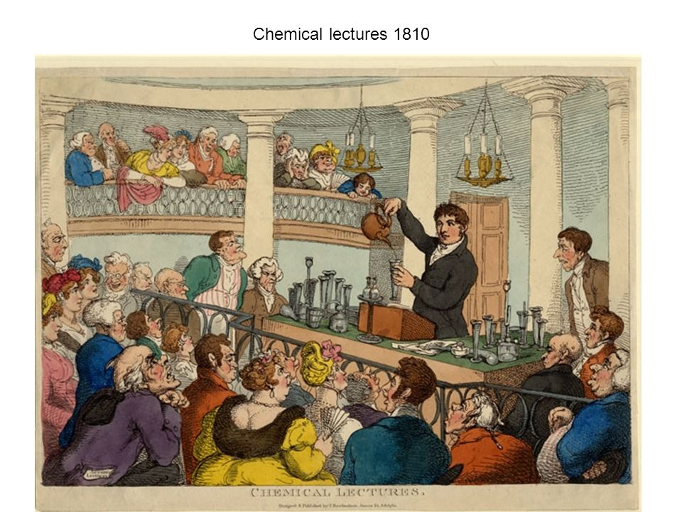 Chemical lectures 1810