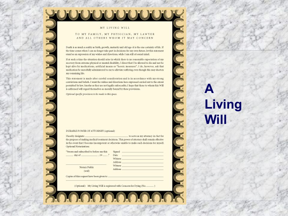 A Living Will