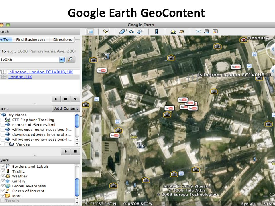 Google Earth GeoContent