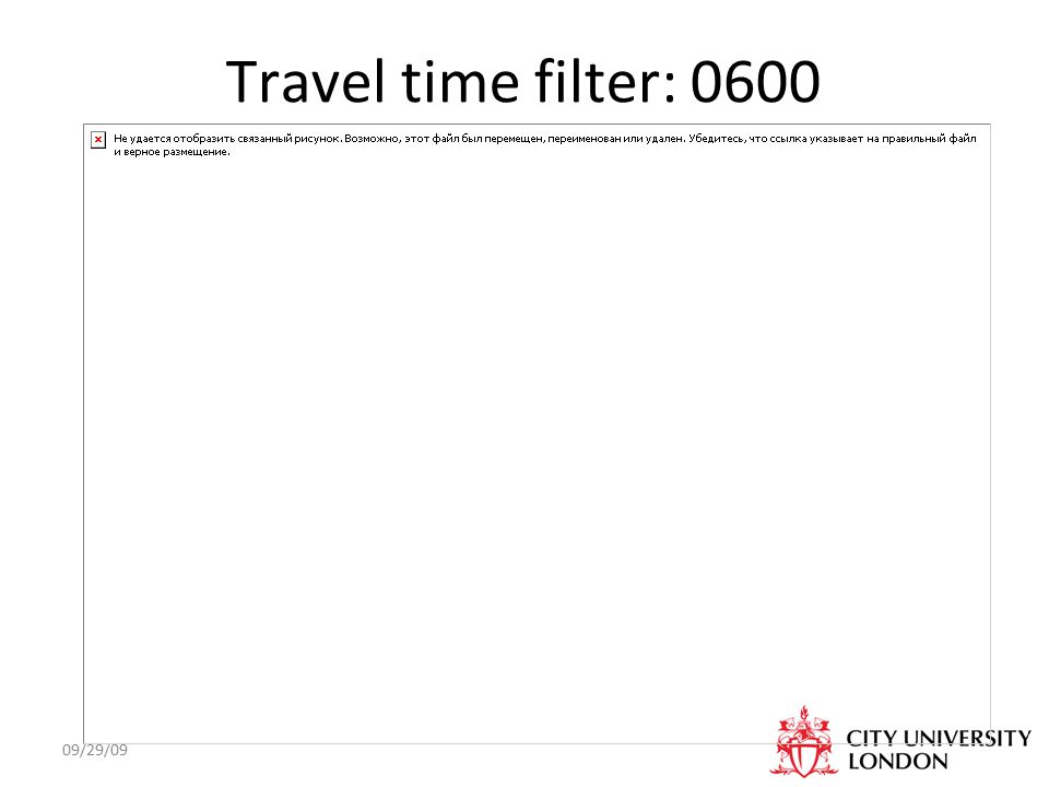 09/29/09 Travel time filter: 0600