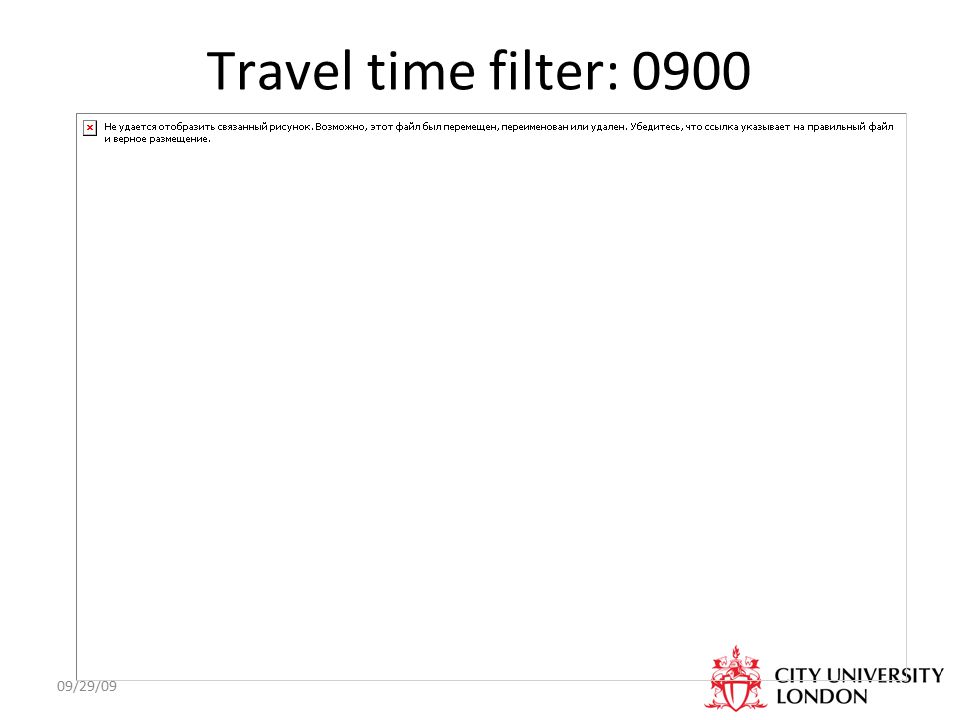 09/29/09 Travel time filter: 0900