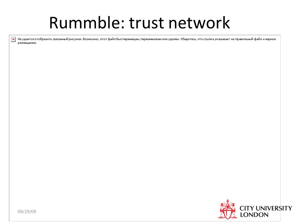 09/29/09 Rummble: trust network