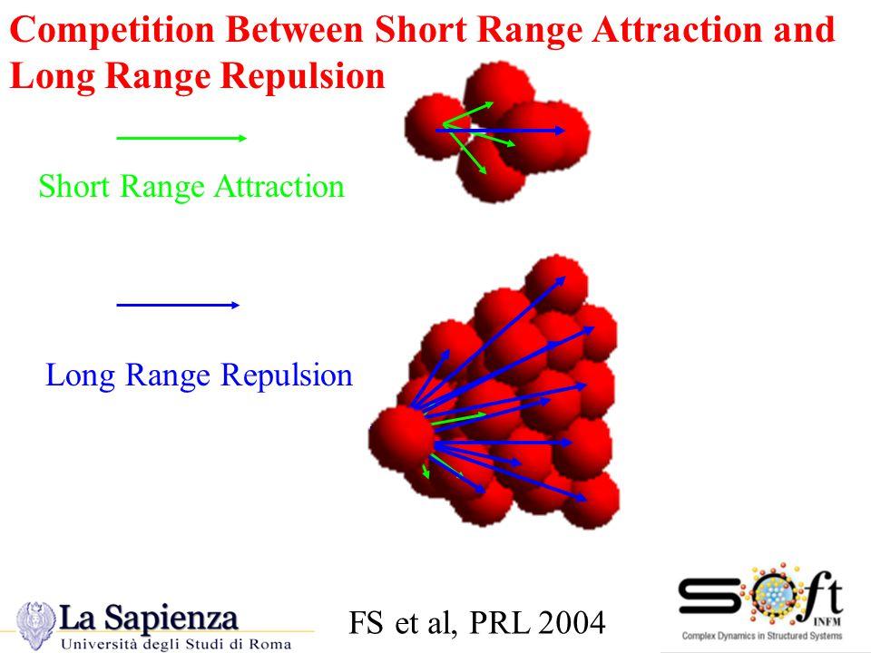 Short Range Attraction Long Range Repulsion Competition Between Short Range Attraction and Long Range Repulsion FS et al, PRL 2004