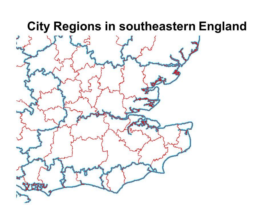 City Regions in southeastern England