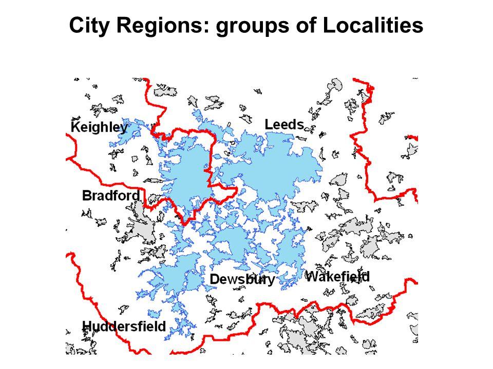 City Regions: groups of Localities