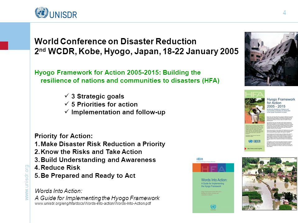 www.unisdr.org 15 Making Cities Resilient: My City is Getting Ready.