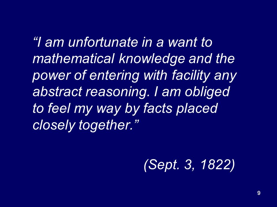 10 Without mathematical training, and rejecting Ampere's action at a distance, Faraday used his geometric intuition to feel his way in understanding his experiments.