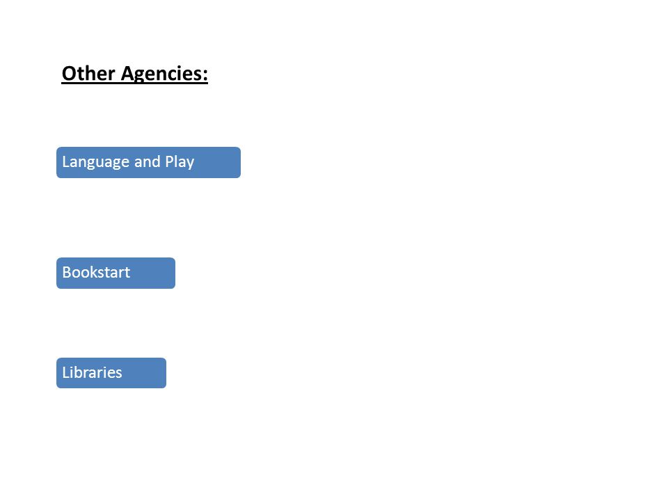 Other Agencies: Language and PlayBookstartLibraries