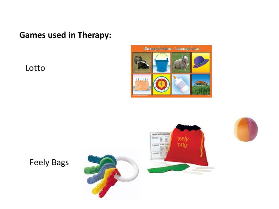 Games used in Therapy: Lotto Feely Bags