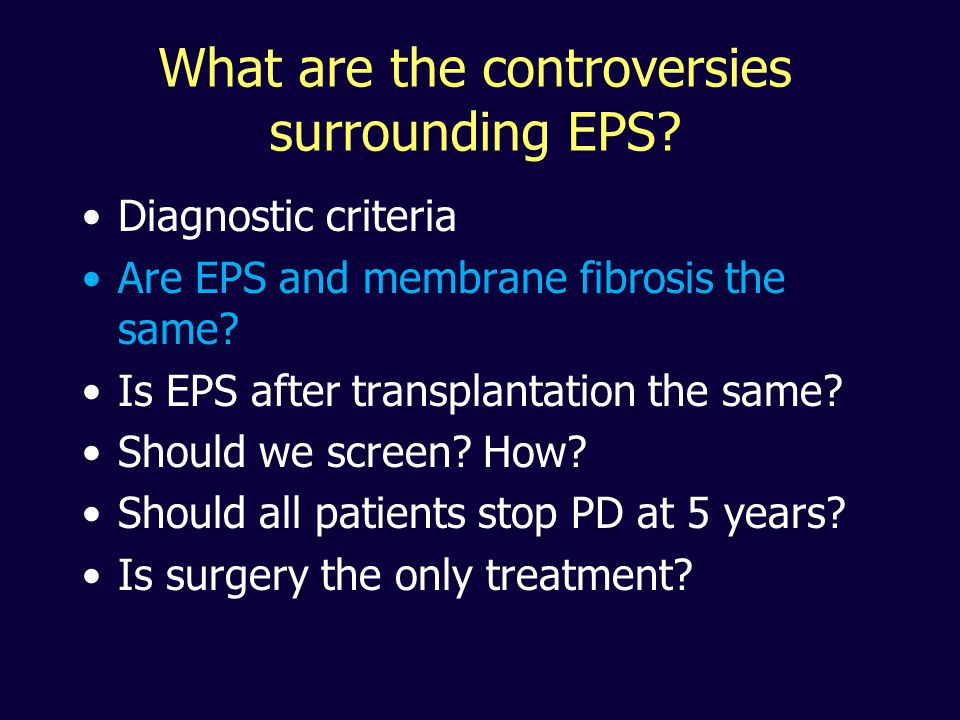 What are the controversies surrounding EPS.