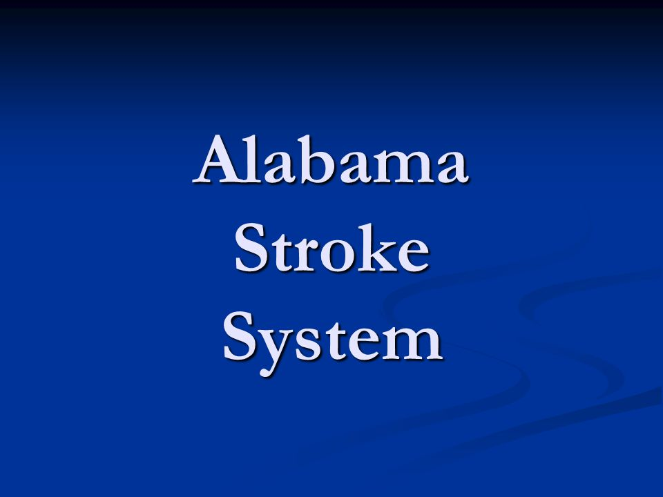 Alabama Stroke System