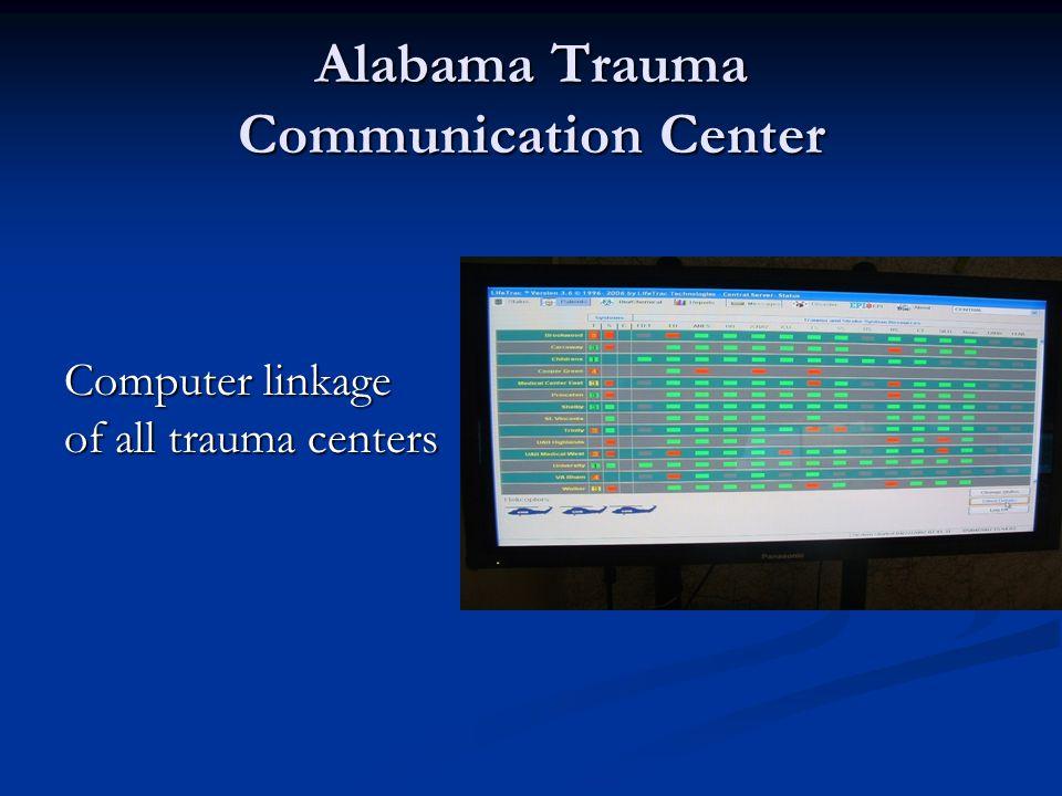 Alabama Trauma Communication Center Computer linkage of all trauma centers