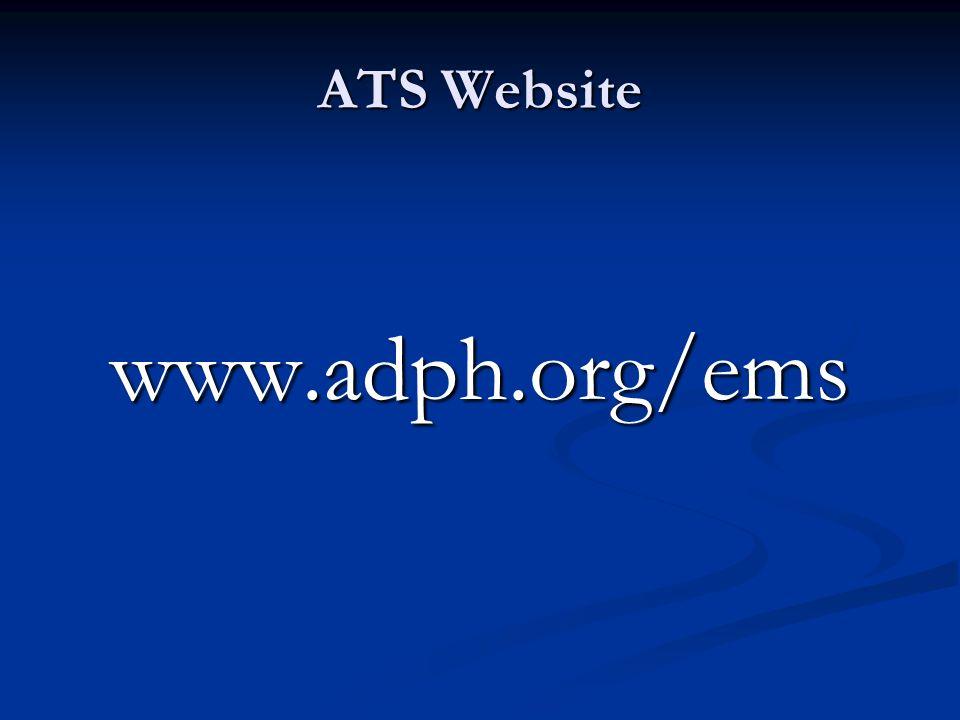 ATS Website www.adph.org/ems