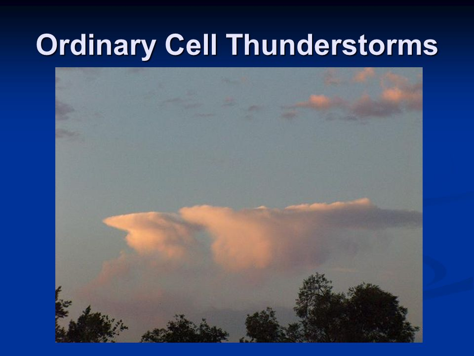Ordinary Cell Thunderstorms