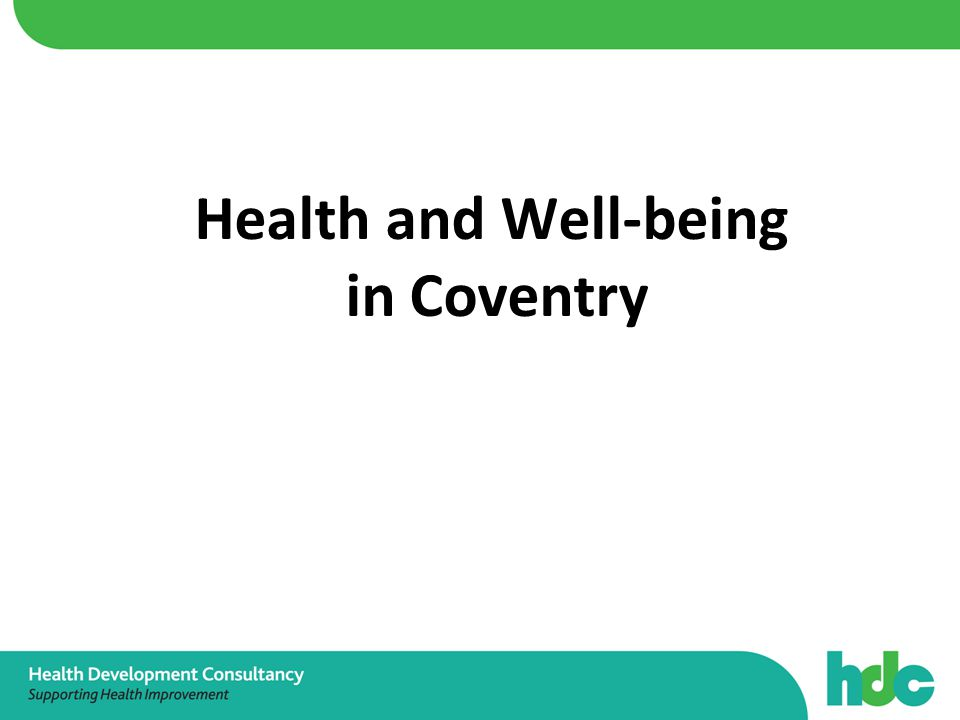 Health and Well-being in Coventry
