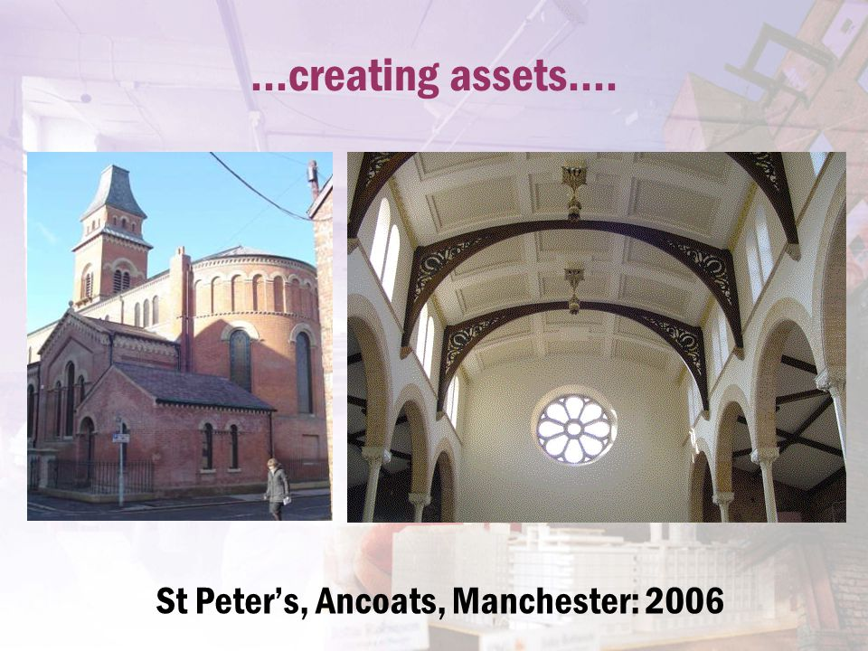 ...creating assets.... St Peter's, Ancoats, Manchester: 2006