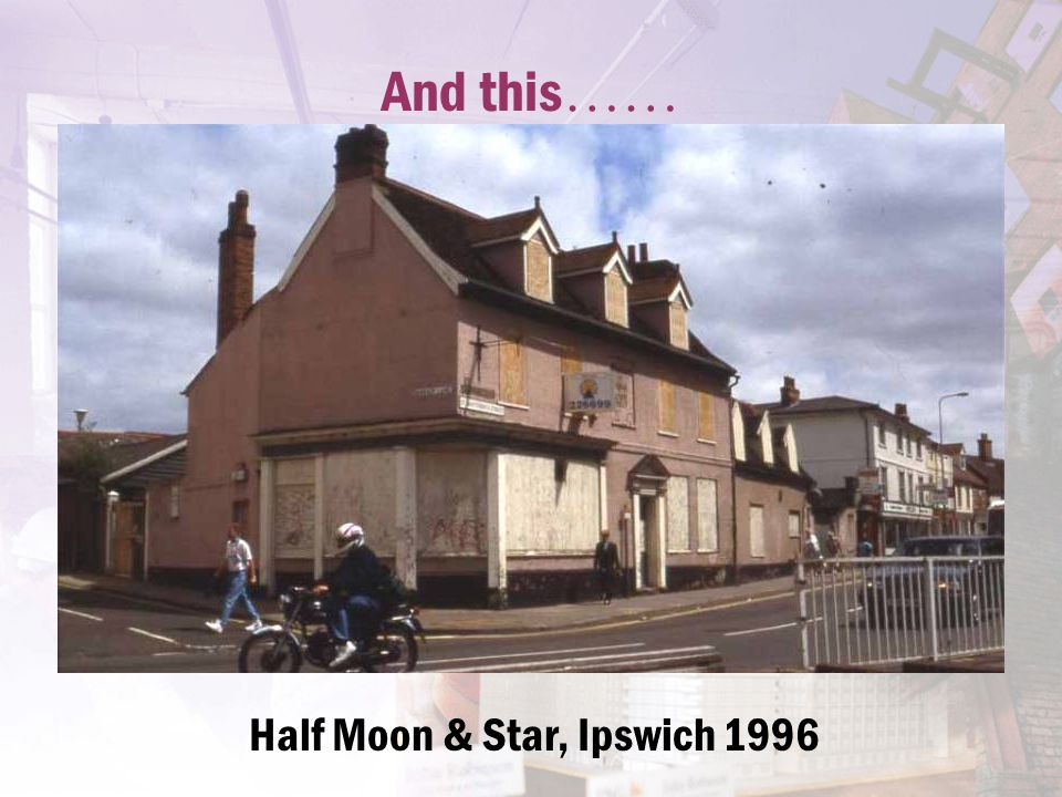 And this …… Half Moon & Star, Ipswich 1996