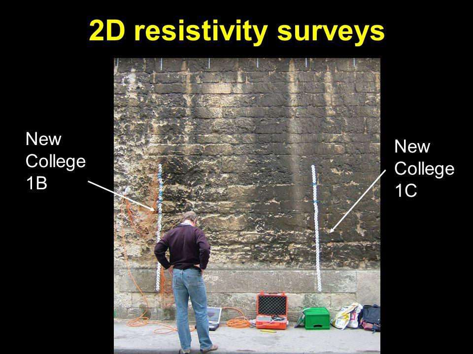 New College 1B New College 1C 2D resistivity surveys