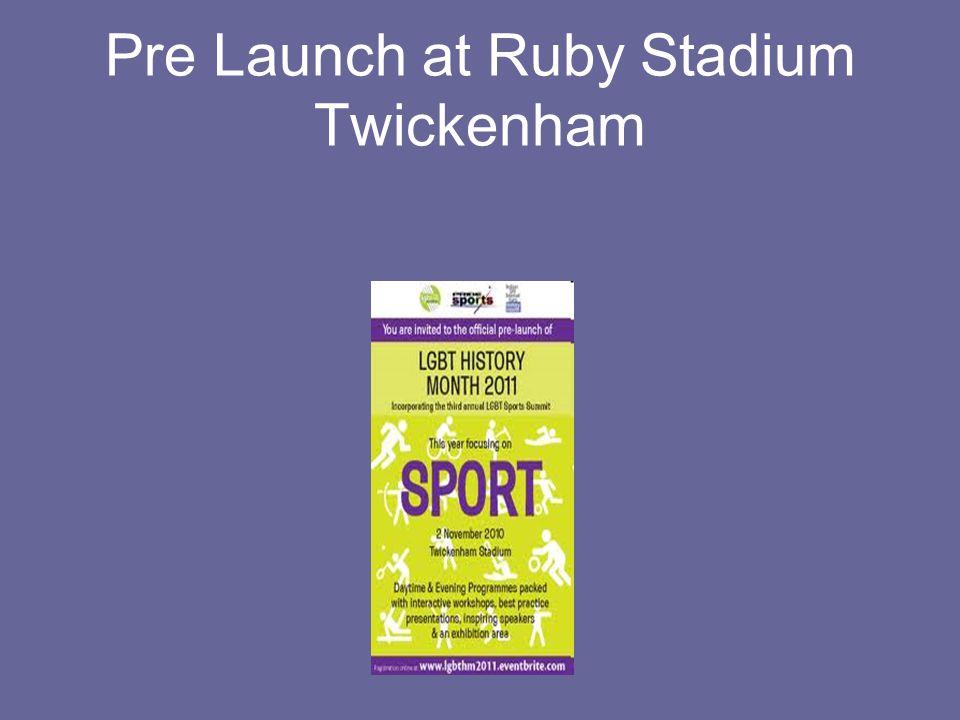 Pre Launch at Ruby Stadium Twickenham