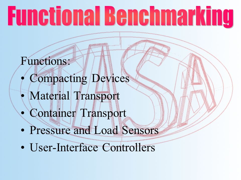 Functions: Compacting Devices Material Transport Container Transport Pressure and Load Sensors User-Interface Controllers