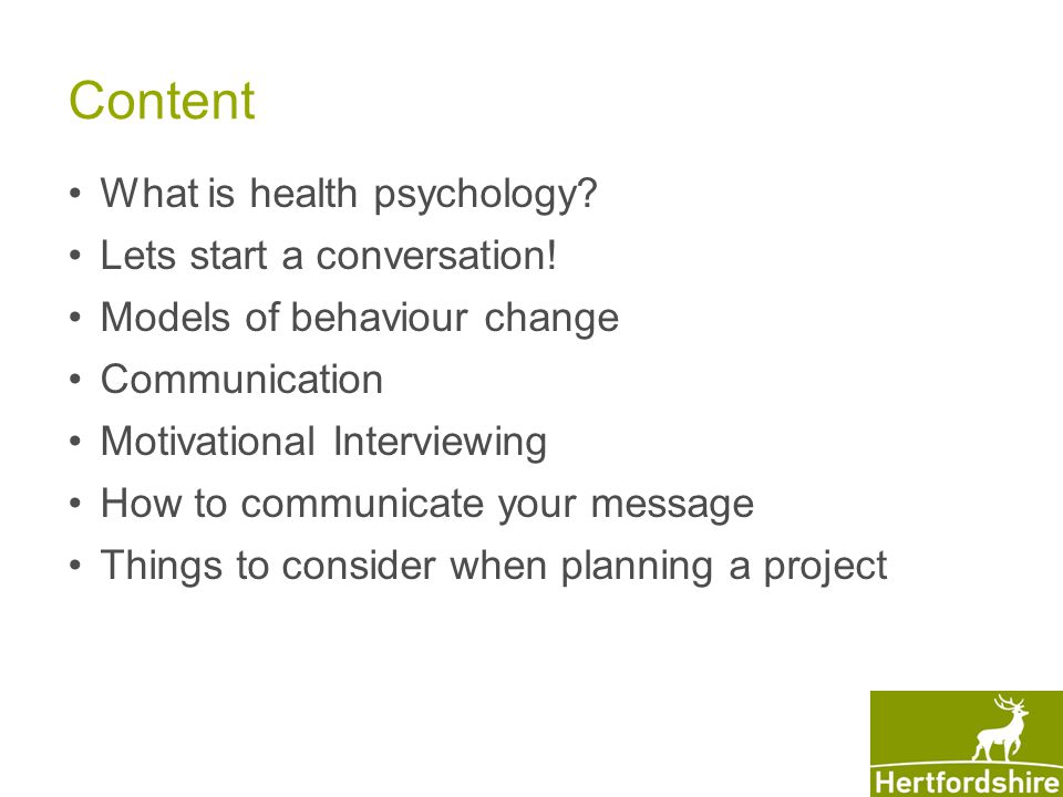 Content What is health psychology. Lets start a conversation.