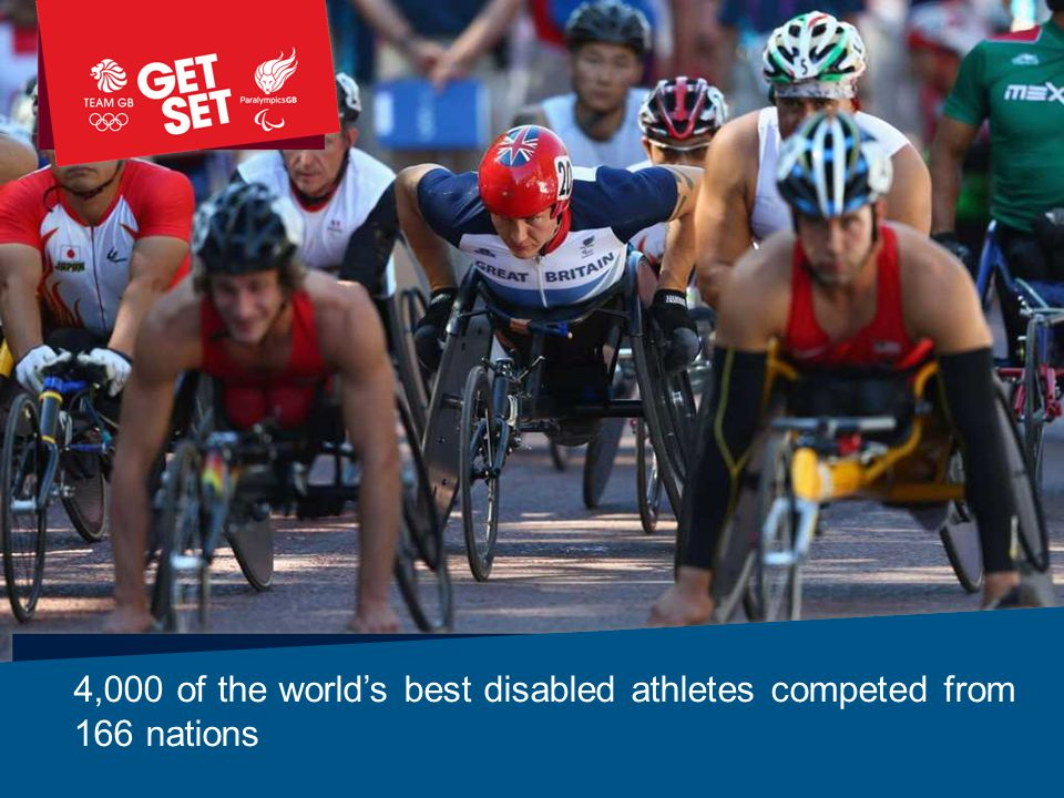 4,000 of the world's best disabled athletes competed from 166 nations