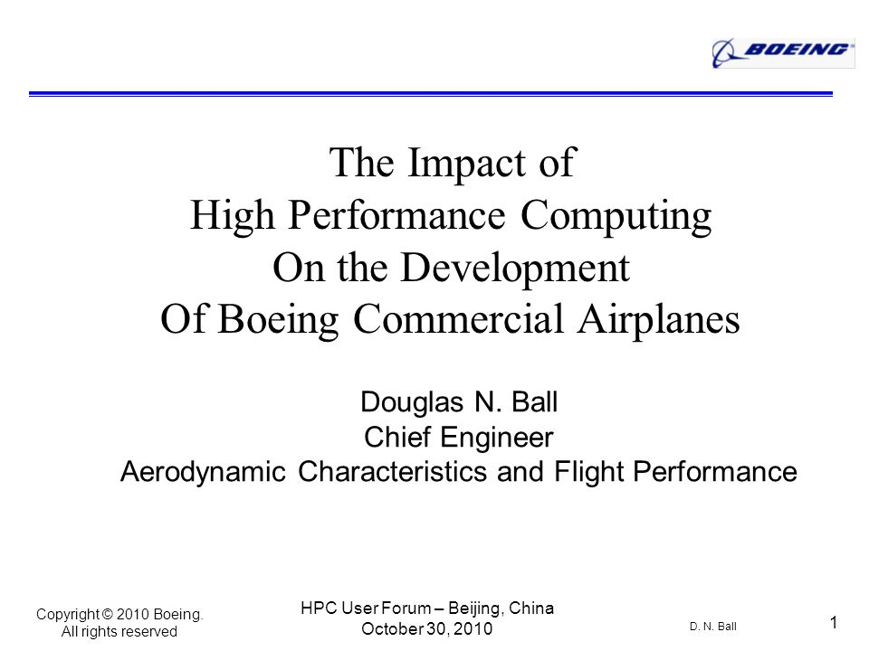 Copyright © 2010 Boeing. All rights reserved D. N.