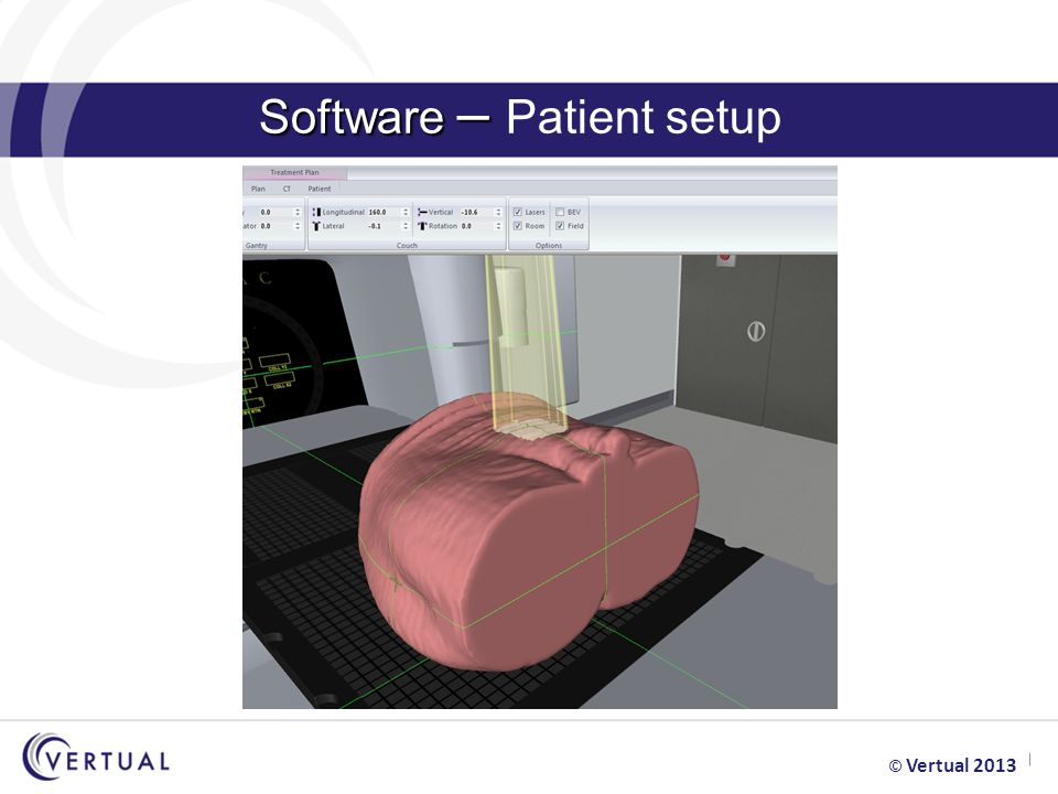 Software – Software – Patient setup © Vertual 2013