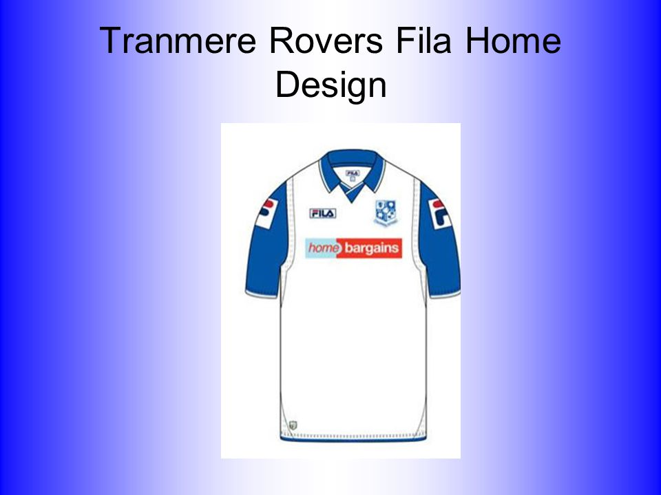 Tranmere Rovers Fila Home Design