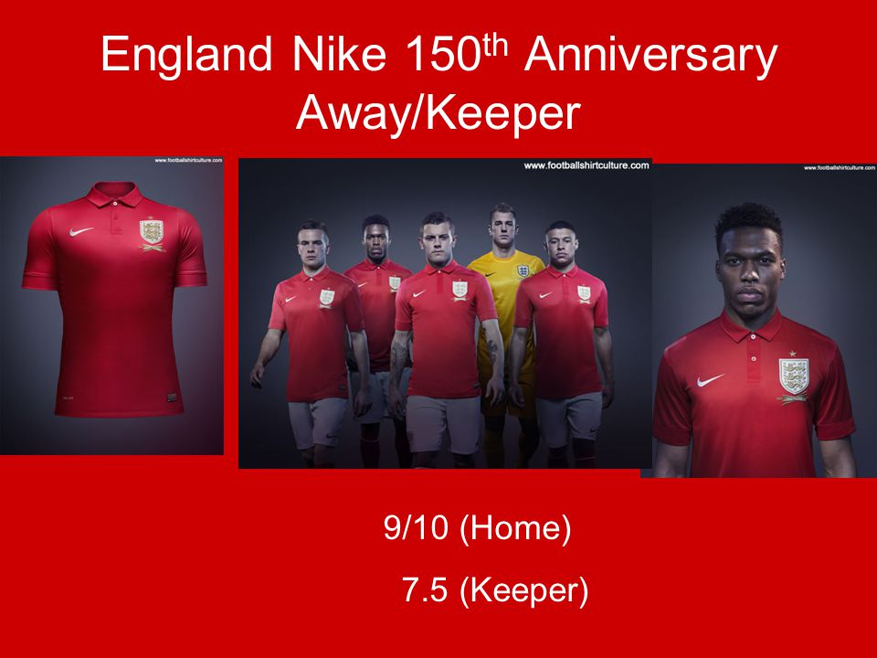 England Nike 150 th Anniversary Away/Keeper 9/10 (Home) 7.5 (Keeper)