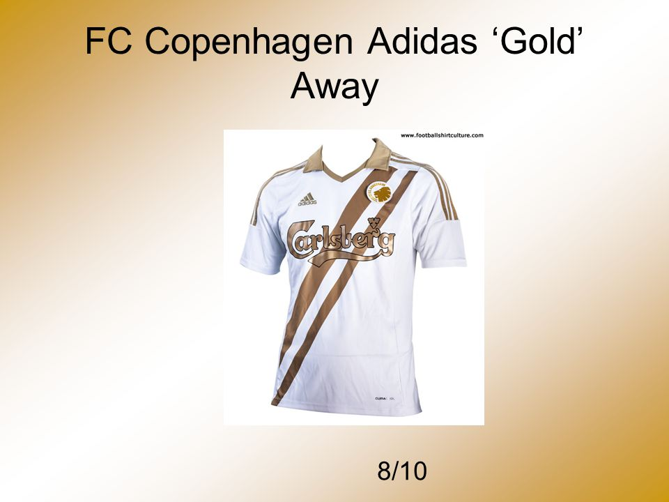 FC Copenhagen Adidas 'Gold' Away 8/10