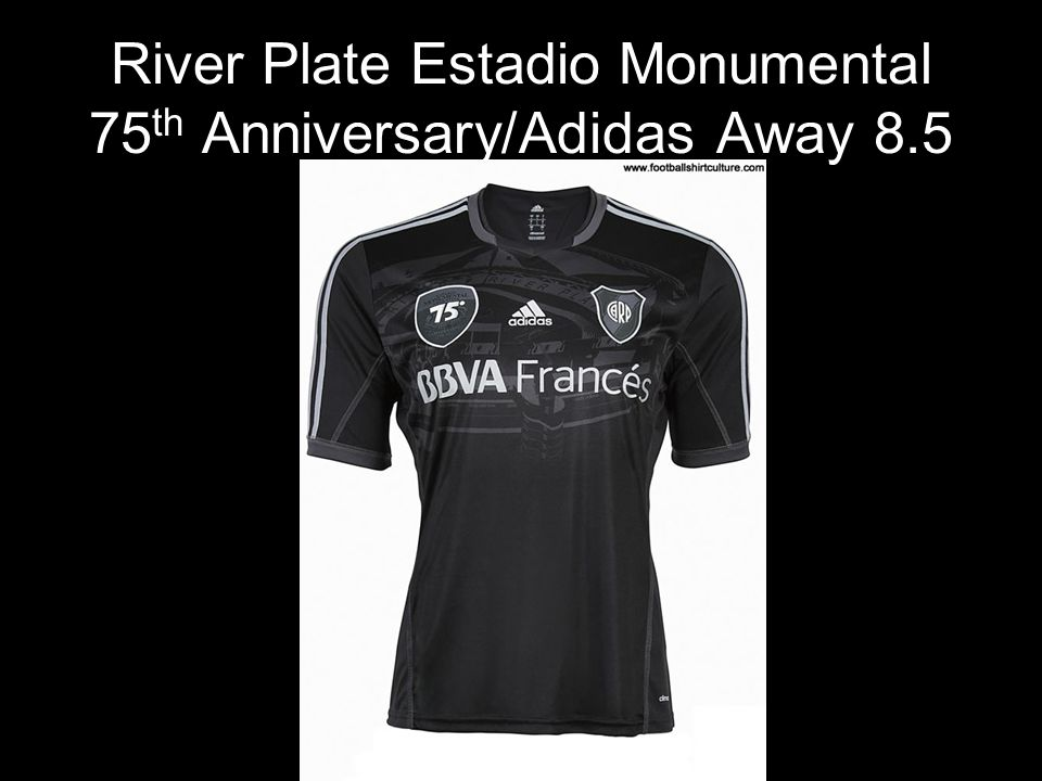 River Plate Estadio Monumental 75 th Anniversary/Adidas Away 8.5