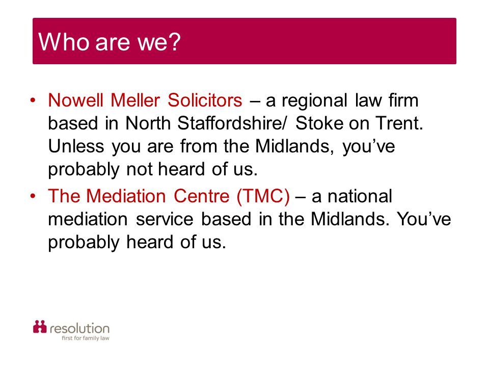 Nowell Meller Solicitors – a regional law firm based in North Staffordshire/ Stoke on Trent.