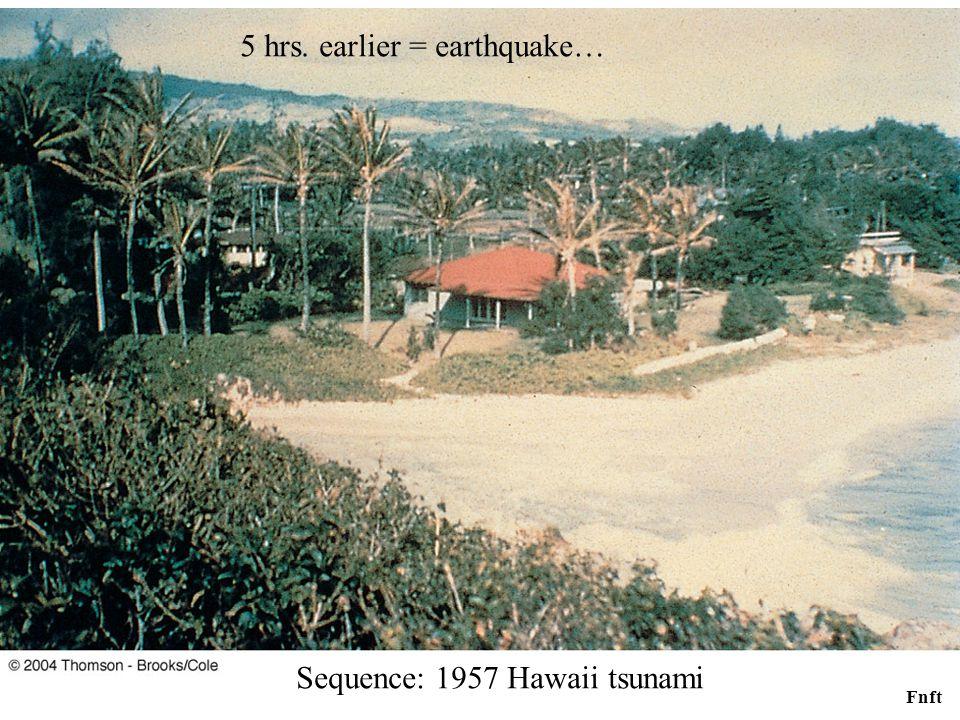 Fnft Sequence: 1957 Hawaii tsunami 5 hrs. earlier = earthquake…
