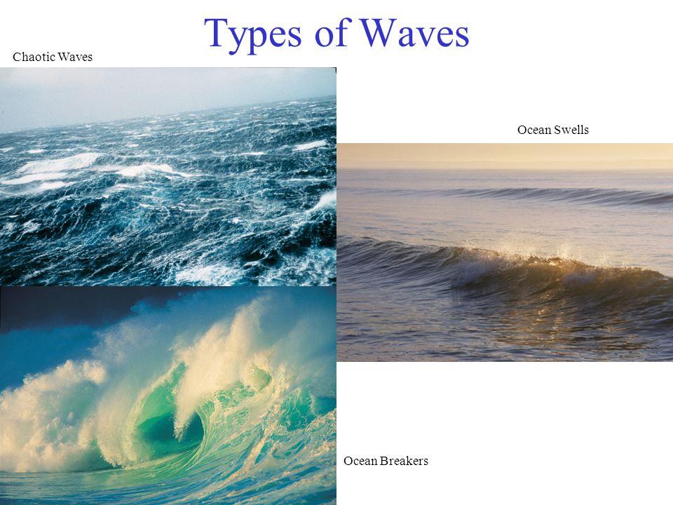 Types of Waves Chaotic Waves Ocean Swells Ocean Breakers