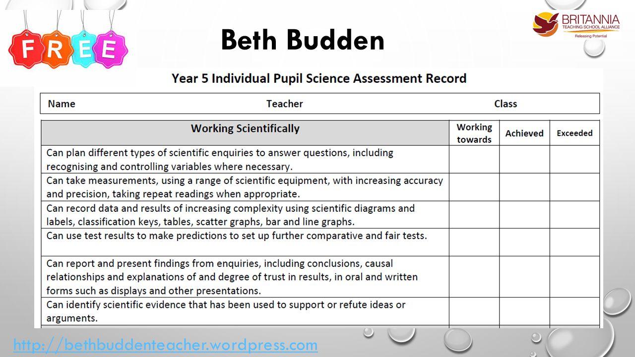 Beth Budden http://bethbuddenteacher.wordpress.com