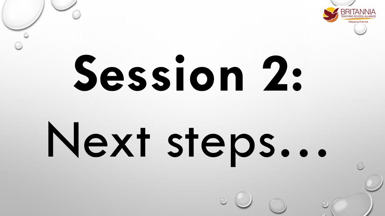 Session 2: Next steps…