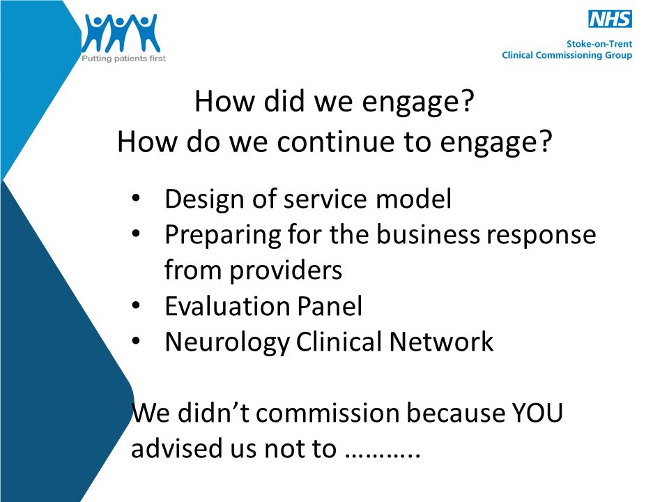 How did we engage. How do we continue to engage.