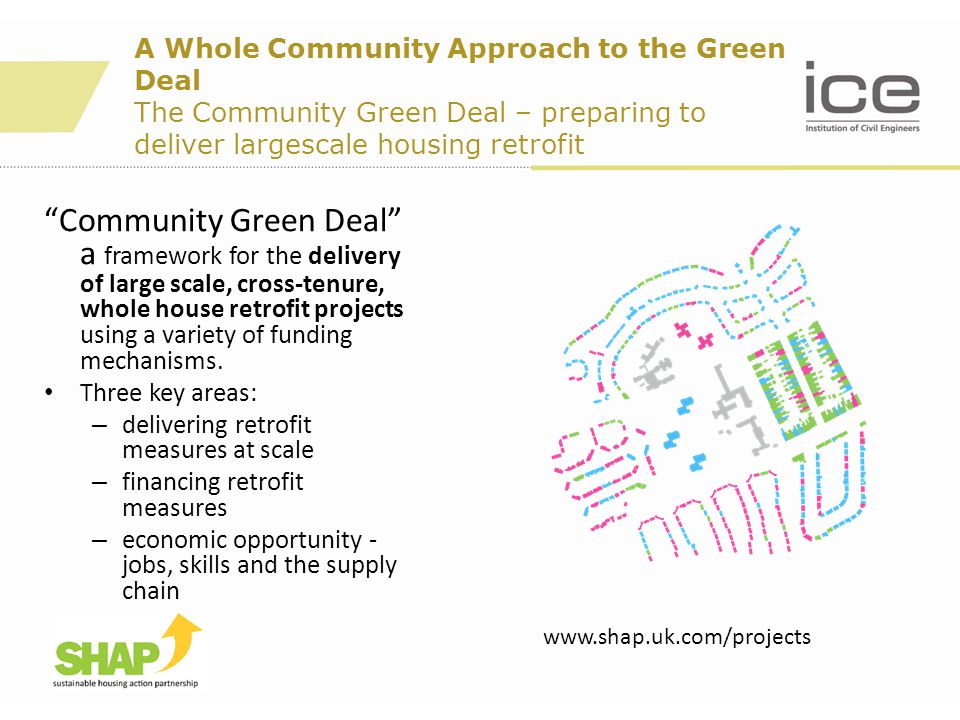 "A Whole Community Approach to the Green Deal The Community Green Deal – preparing to deliver largescale housing retrofit ""Community Green Deal"" a fram"