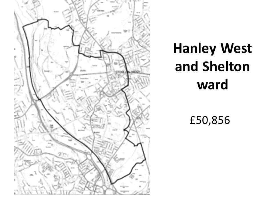 £50,856 Hanley West and Shelton ward
