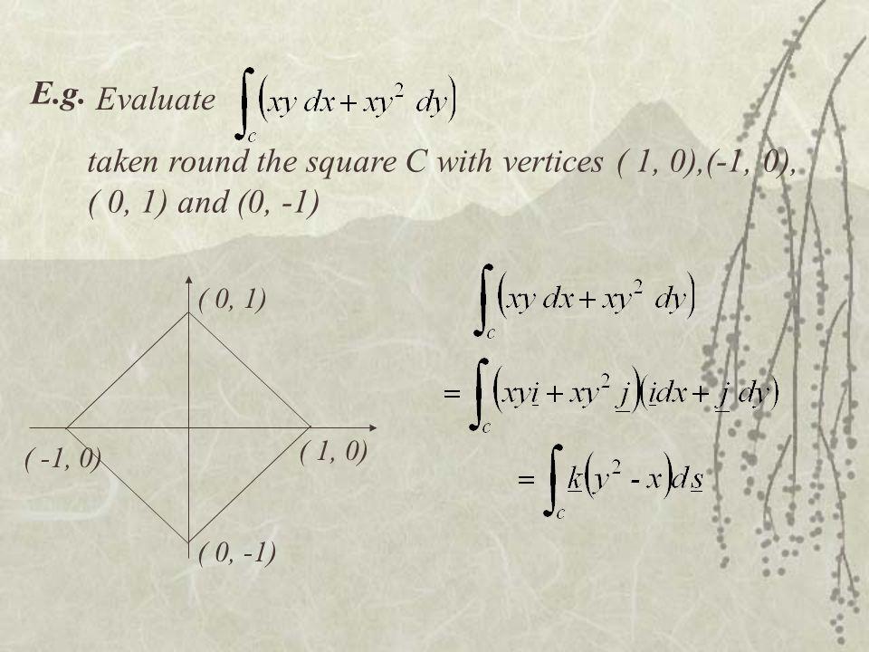 ( 1, 0) ( -1, 0) ( 0, 1) ( 0, -1) E.g.