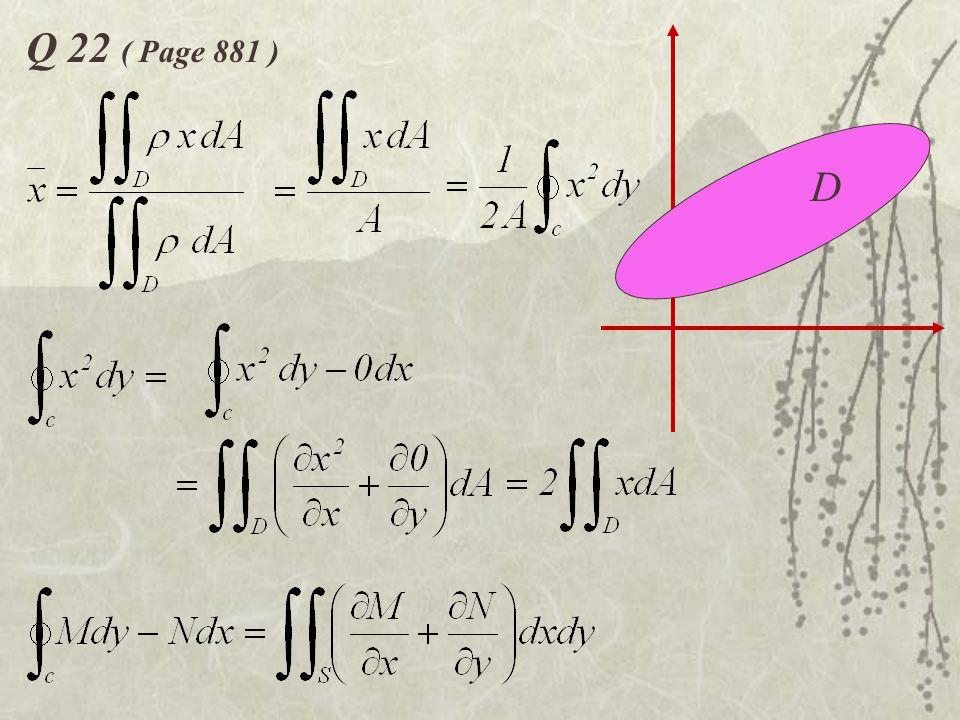 Q 22 ( Page 881 ) D
