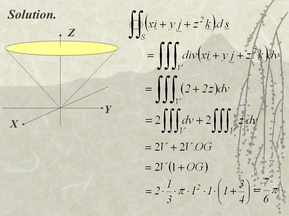 Solution. X Y Z
