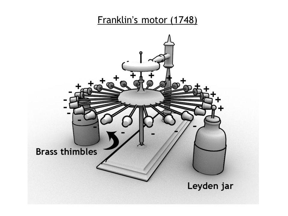Franklin's motor (1748)