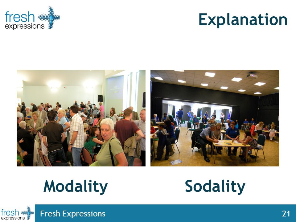 Fresh Expressions21 Explanation SodalityModality